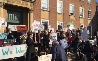 Protesters urge West Sussex County Council to declare Climate Emergency