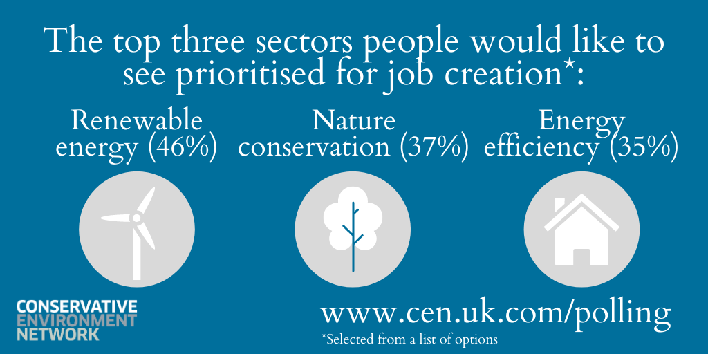 Latest polling shows support for green recovery